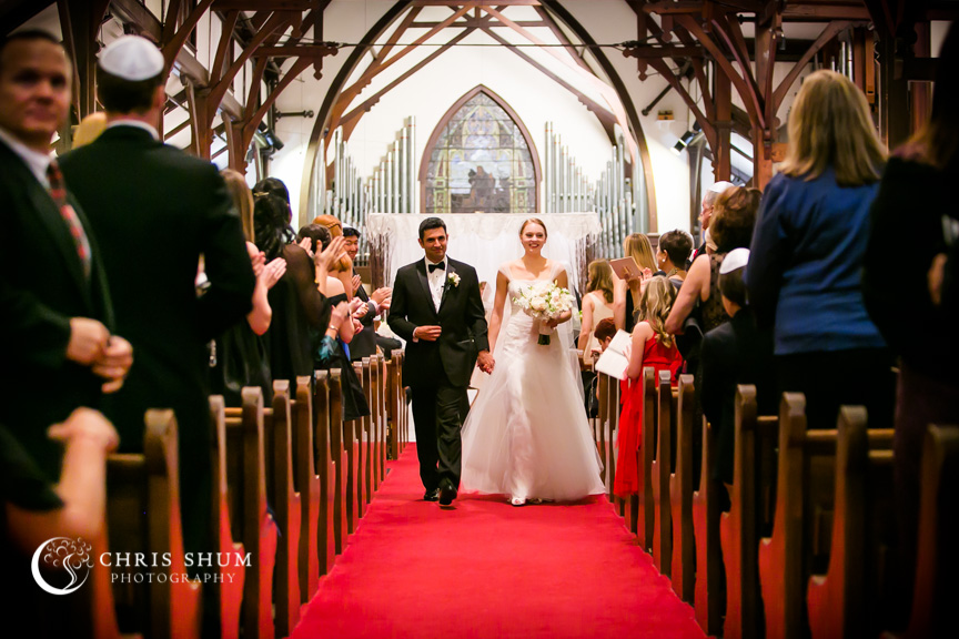Destination-wedding-St-Pete-Florida-bride-groom-walking-down-the-aisle