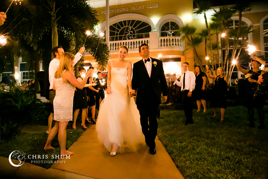 Destination-wedding-St-Pete-Florida-bride-groom-exiting-with-sparklers