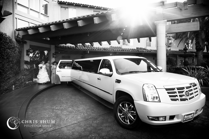 """San-Jose-Campbell-wedding-bridal-party-getting-on-limo"""