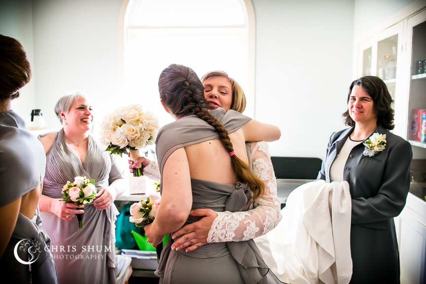 """San-Jose-Campbell-wedding-bride-hugging-groomswoman"""