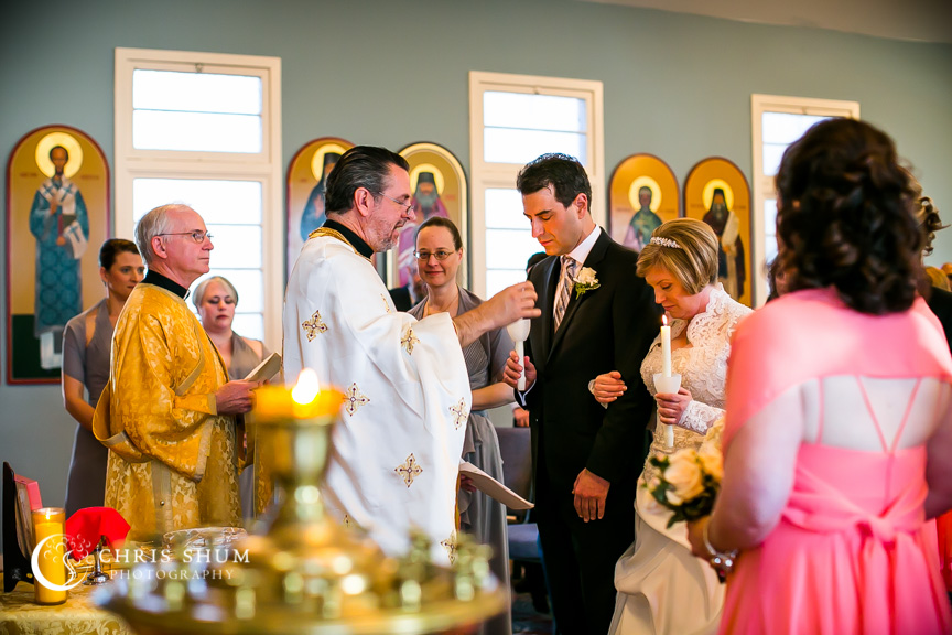 """San-Jose-Campbell-wedding-bride-groom-in-front-of-priest"""